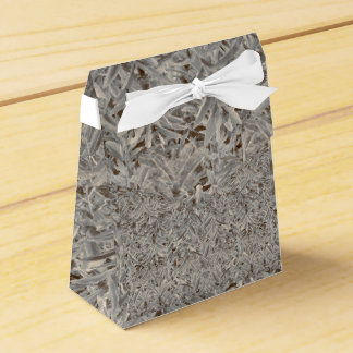 Silver Tropical Print Favor Boxes