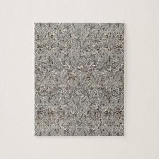 Silver Tropical Print Jigsaw Puzzle