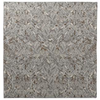 Silver Tropical Print Napkin