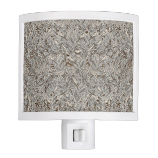 Silver Tropical Print Night Lights