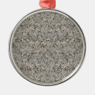 Silver Tropical Print Silver-Colored Round Ornament
