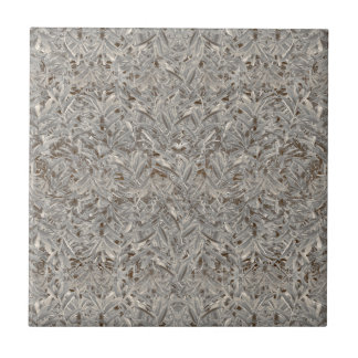 Silver Tropical Print Tile