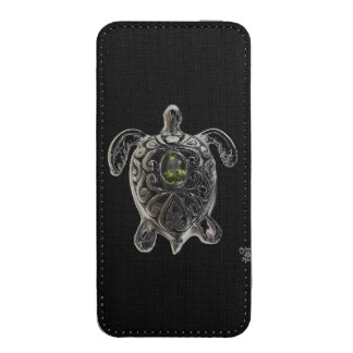 R Turtles Lucky SILVER TURTLE iPhone 5 POUCH