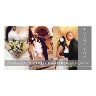 SILVER UNION | WEDDING THANK YOU CARD CUSTOMIZED PHOTO CARD
