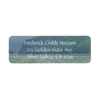 Silver Veil and Golden Gate by Childe Hassam Return Address Label