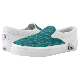 Silver Vein Slip-On Sneakers