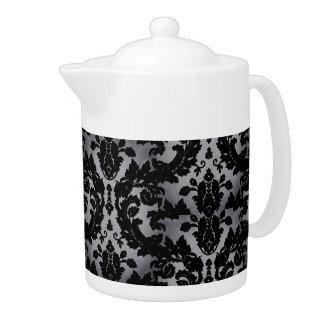 Silver Velvet Teapot