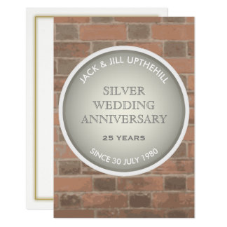 Silver Wedding Anniversary Party Invitation