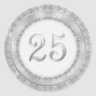 Silver Wedding Anniversary Sticker