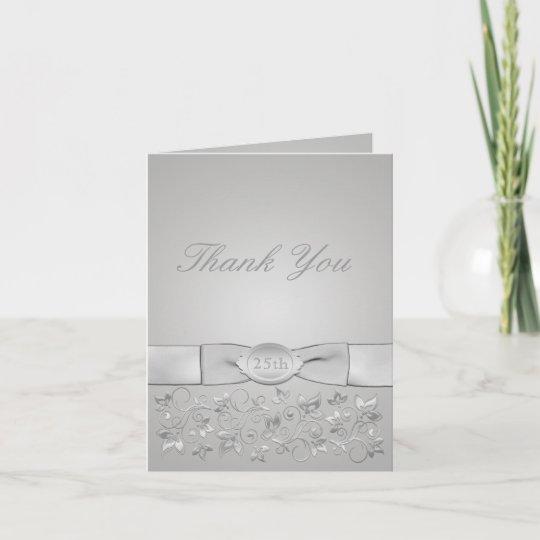 Ypus Silver Wedding Thank: Silver Wedding Anniversary Thank You Card