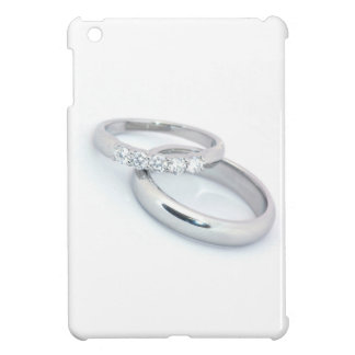 Silver Wedding Bands Save the Date iPad Mini Covers