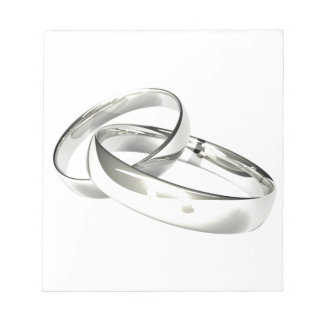 Silver Wedding Bands Save the Date Notepads