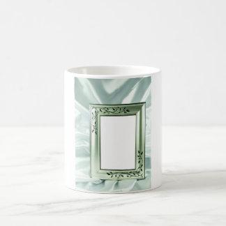 Silver wedding frame design coffee mug