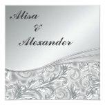 Silver Wedding invitations Announcements