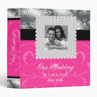 Silver Wedding Jewels Pink Silver Photo 3 Ring Binder