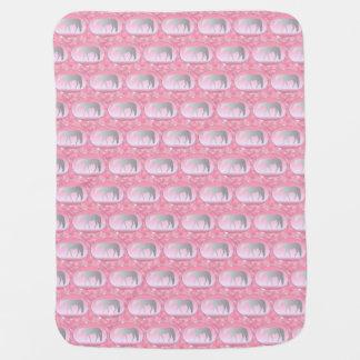 Silver Western Pleasure Horses on Pink Brokeh Baby Blanket