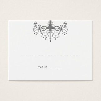 Silver & White Chandelier Place Cards