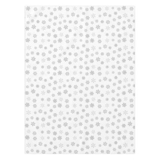Silver White Snowflakes Pattern Tablecloth