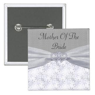 Silver, White Stars & Snowflakes Wedding Pins