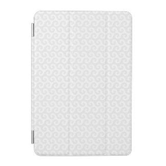 Silver & White Waves - Stylish & Fun Pattern iPad Mini Cover