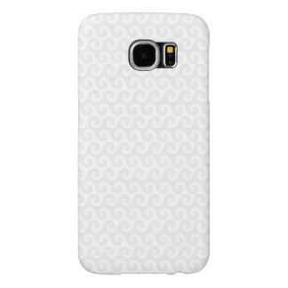 Silver & White Waves - Stylish & Fun Pattern Samsung Galaxy S6 Cases