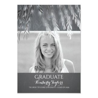 Silver Willow Photo Graduation Party Announcement