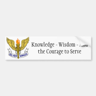 Silver Wings Bumper Sticker