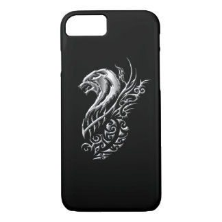 Silver Wolf Black iPhone 7 Case