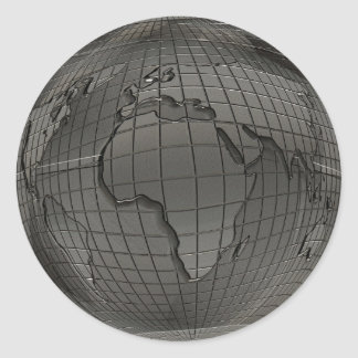 Silver World Globe Stickers