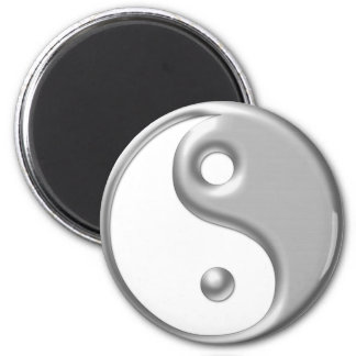 Silver Ying Yang Magnet