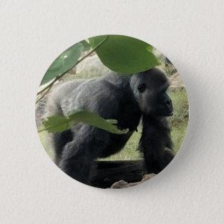 Silverback Gorilla 2 Inch Round Button