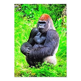 Silverback Gorilla Photo Painting Card
