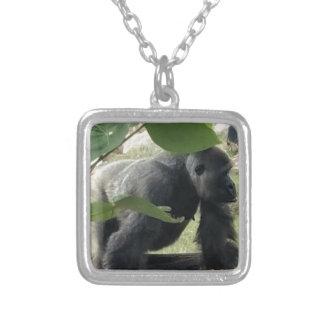 Silverback Gorilla Silver Plated Necklace