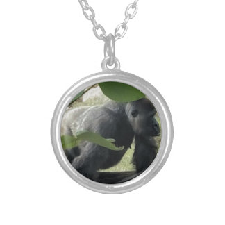Silverback Gorilla Silver Plated Necklace