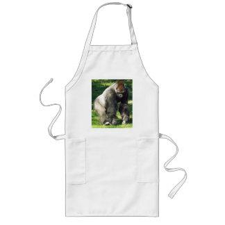 Silverback Male Lowland Gorilla Standing Up Long Apron