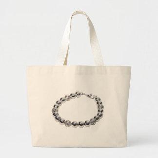 SilverChain072509 Large Tote Bag