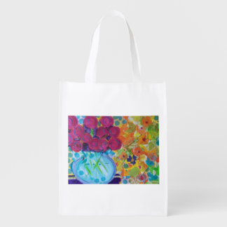 Silvermine Collage Reusable Grocery Bag