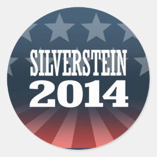 SILVERSTEIN 2014 ROUND STICKERS