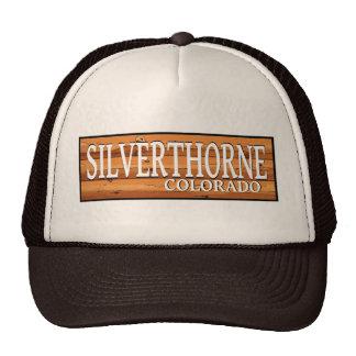Silverthorne Colorado wooden log sign Trucker Hat