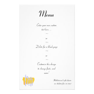 Silverware and Napkin Custom Menu Flyer Template