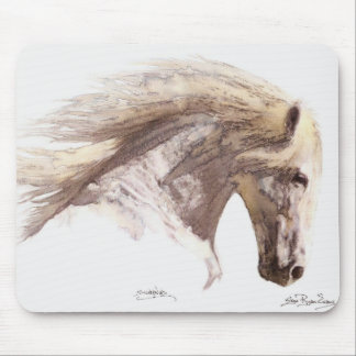 """SILVERWIND"" Stallion Horse Lover's Mousepad"