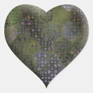 Silvery Batik #2 Heart Sticker