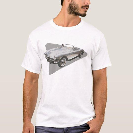 Silvery blue 1959 Corvette on sllver foil on T T-Shirt