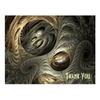 Silvery Gold Tunnel Fractal Art Postcard
