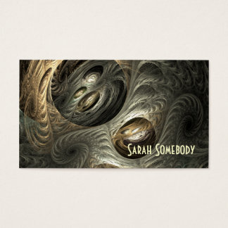 Silvery Gold Tunnel Fractal Profile Card