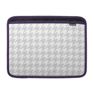 Silvery Houndstooth 1 MacBook Sleeve