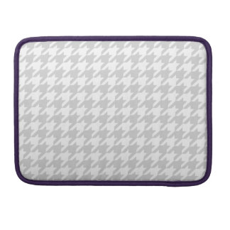 Silvery Houndstooth 1 Sleeve For MacBooks