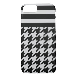 Silvery Houndstooth w/ Stripes 2 iPhone 7 Case
