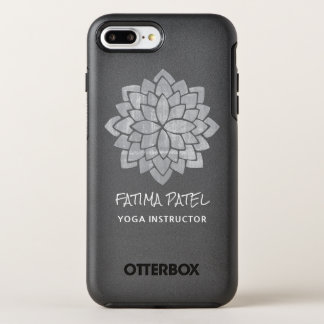 Silvery  Mandala Floral Modern  Yoga Instructor OtterBox Symmetry iPhone 8 Plus/7 Plus Case
