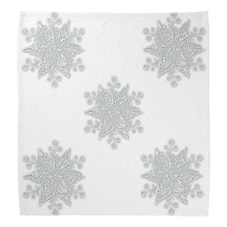Silvery Snowflakes Bandana